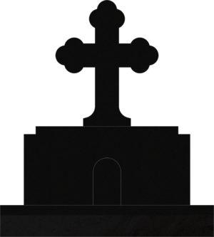 Orthodox Cross 42x10x52 Black