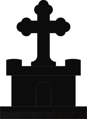 Orthodox Cross 31x10x15 Black
