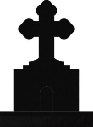Orthodox Cross 34x10x58 Black