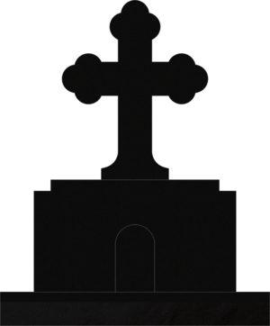 Orthodox Cross 36x10x52 Black